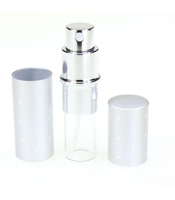 Flacon parfum 10 ml argent